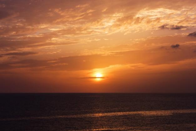 Seesonnenuntergang
