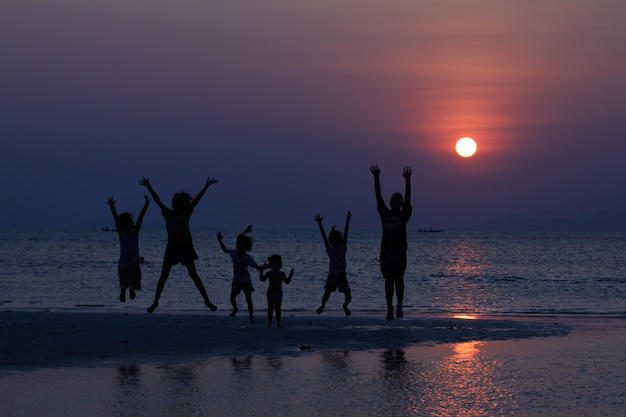 Seestück sonnenuntergang, samui insel thailand
