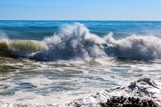 Seewelle während des sturms