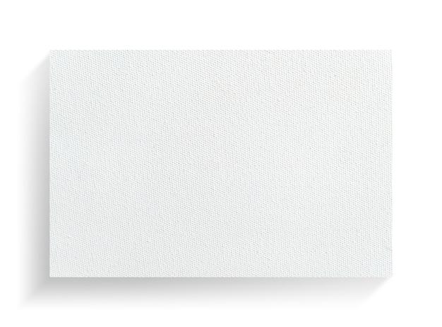 Segeltuchrahmen auf weißem hintergrund mit weichem schatten.