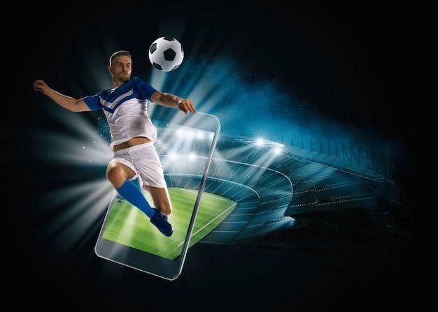 Sehen sie sich ein live-sportereignis auf ihrem mobilgerät an und wetten sie auf fußballspiele