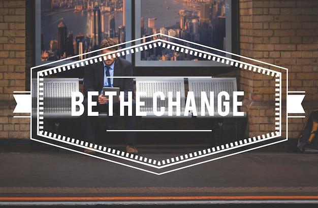 Sei das veränderungsstrategie-symbol