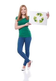 Sei grün und hilf unserem planeten