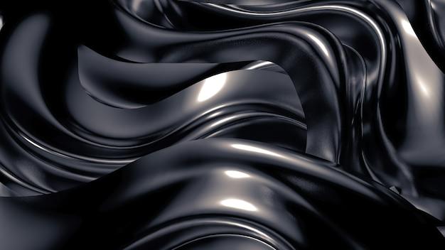 Seide oder stoff mit metallischen reflexen hintergrund 3d illustration rendering