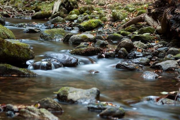 Seidiger fluss im baskenland