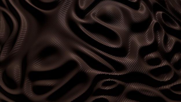 Seidiger stoff des braunen stoffes wellt hintergrundbeschaffenheit.