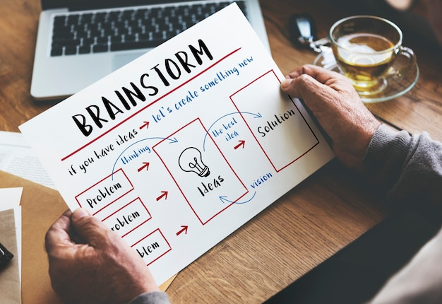 Seien sie kreativ frische ideen lösung innovation konzept