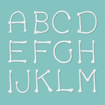 Seil alphabet isoliert