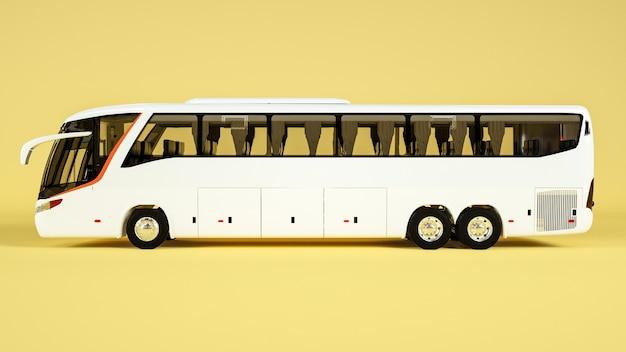Seitenansicht des transitbusses für anzeigemodell. rendern