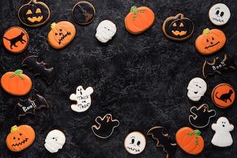 Selbst gemachte Halloween-Plätzchen