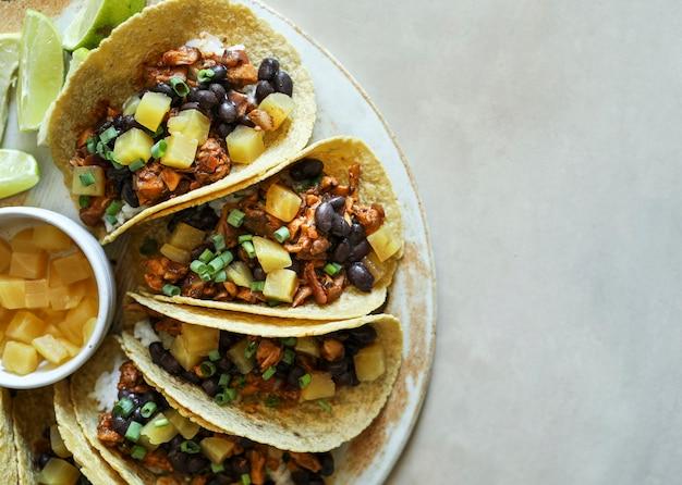 Selbst gemachte vegane tacoahrungsmittelphotographie
