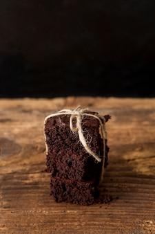 Selbst gemachter kuchen aus schokolade