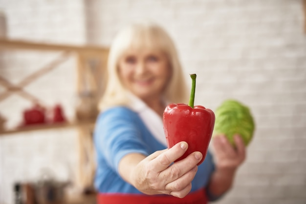 Selbst gemachtes vegetarisches lebensmittel-gemüsepaprika-kochen