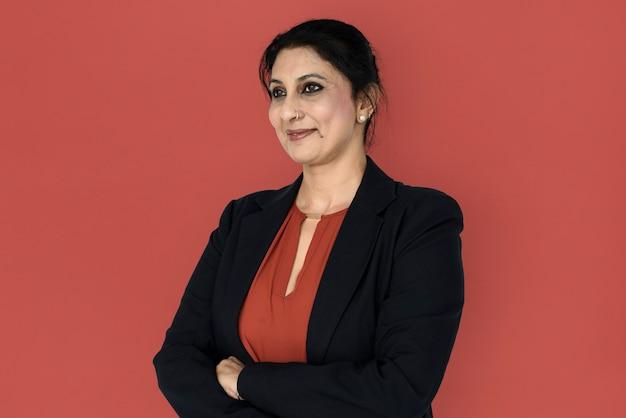 Selbstbewusste indische geschäftsfrau