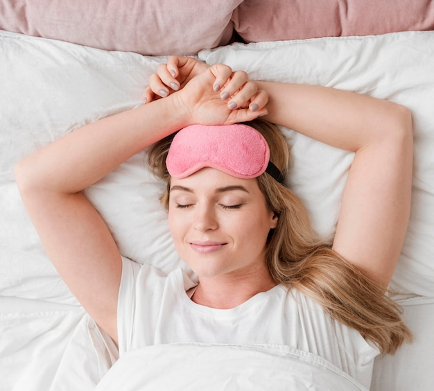 Selbstpflege schönheitsschlaf draufsicht