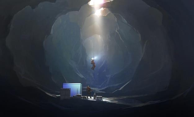 Seltsame höhle