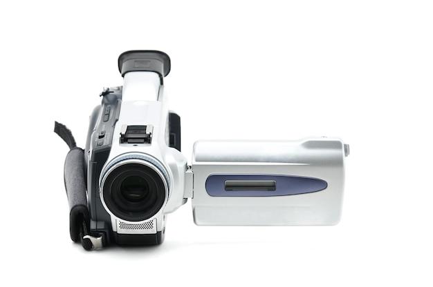Semiprofessioneller video-camcorder für isolierte videoclips