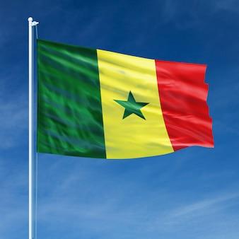 Senegal flagge fliegen