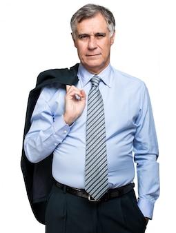 Senior manager, isoliert auf weiss