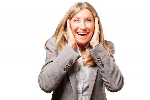 Senior oma weiblich glücklich schön