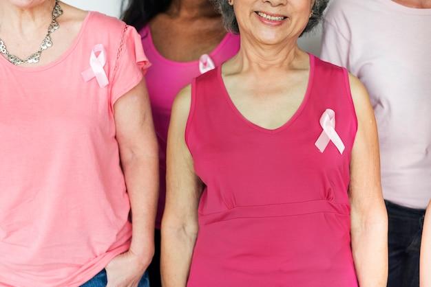 Sensibilisierung für brustkrebs bei frauen