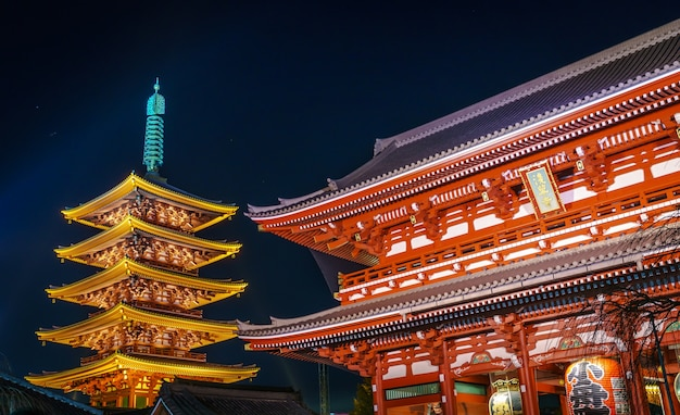 Sensoji-ji-tempel in asakusa japan