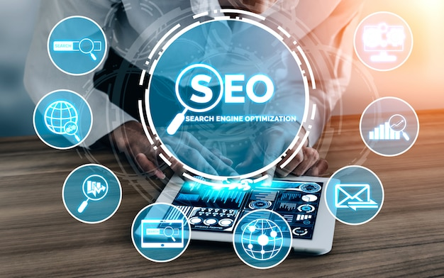 Seo search engine optimization-geschäftskonzept