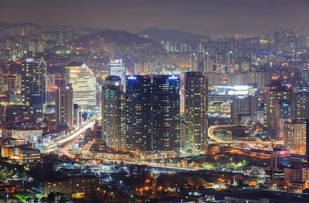 Seoul city bei nacht