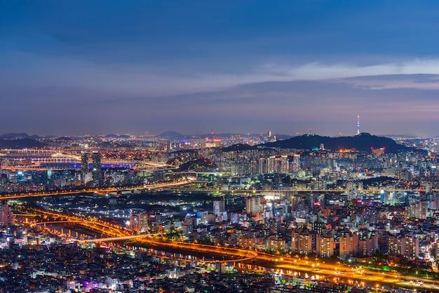 Seoul skyline der stadt