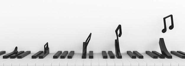 Sequenz des musiknoten-transformationskonzepts