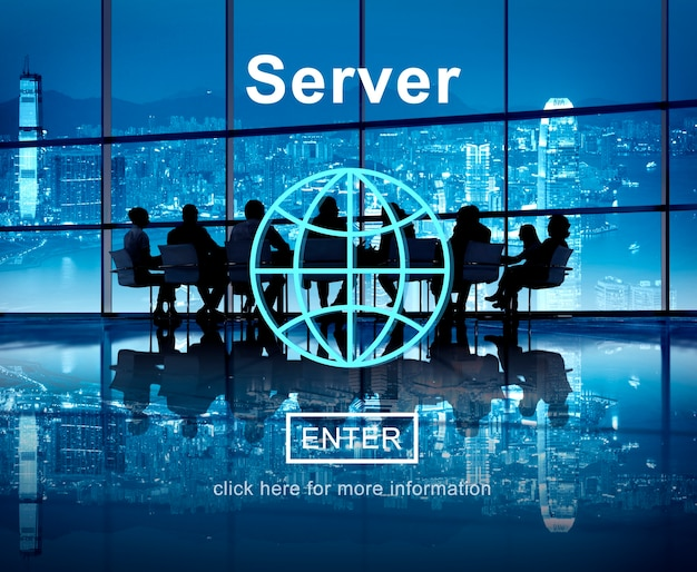 Server-netzwerk-computer-datenbank-technologie-konzept