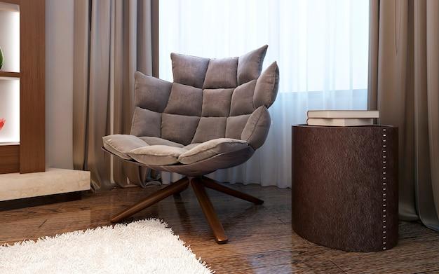Sessel im modernen stil des wohnzimmers