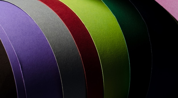 Set aus farbigem karton