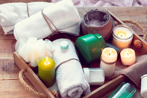 Set badehauszubehör für spa
