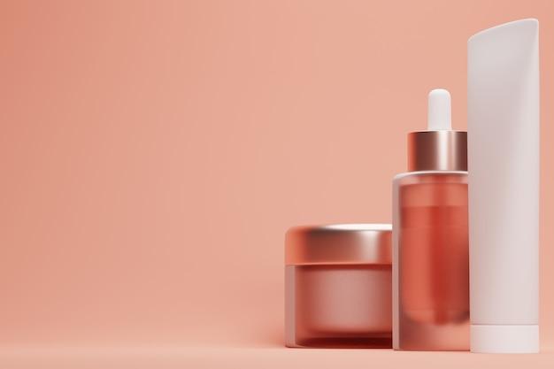 Set blank kosmetikverpackung modell