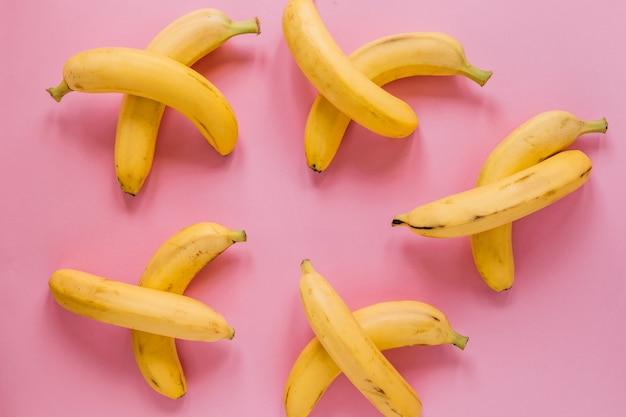 Set frische bananen
