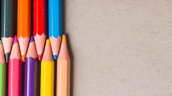 Set helle farbige Bleistifte