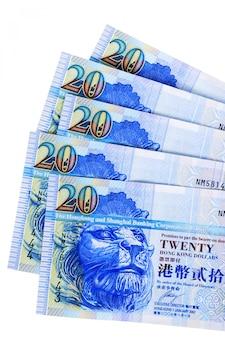Set hong kong bargeldrechnungen völlig getrennt gegen weiß