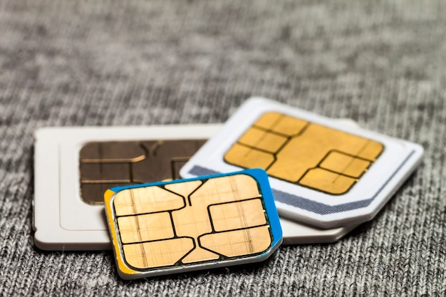 Set mini, micro und nano sim karte.