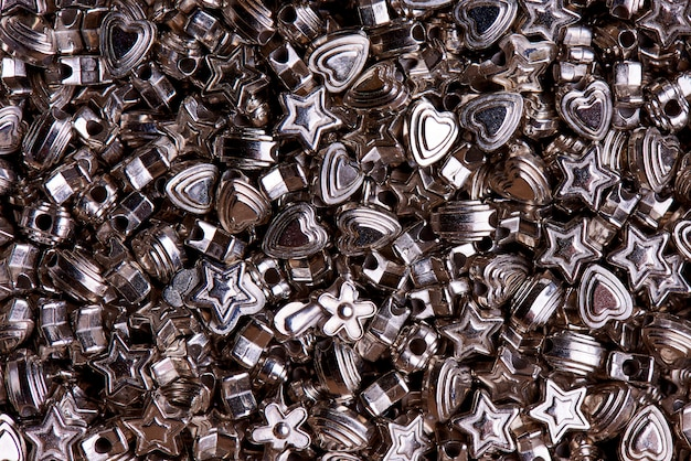 Set silberne korne der unterschiedlichen formnahaufnahme.