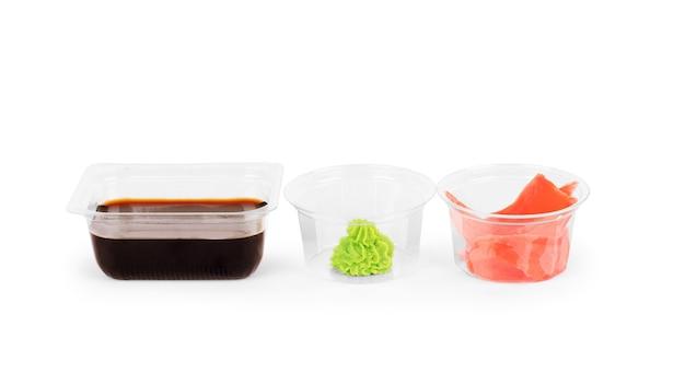 Set sushi-tischuntertasse mit sojasauce klein