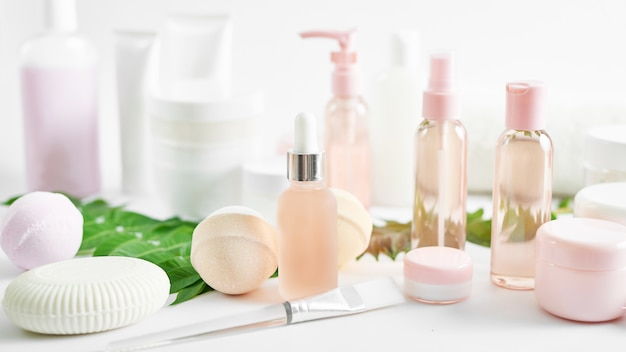 Set traditioneller spa-produkte