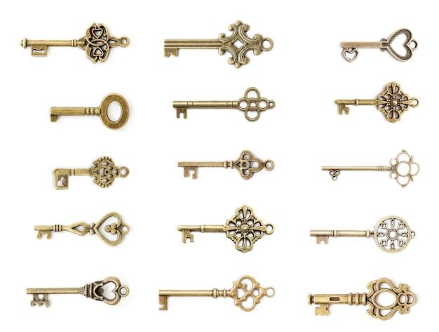 Set vintage schlüssel