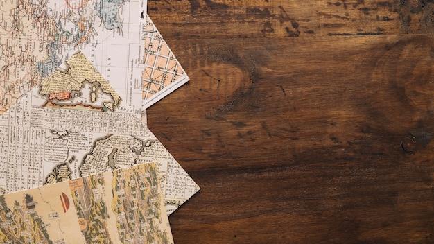 Set von alten karten