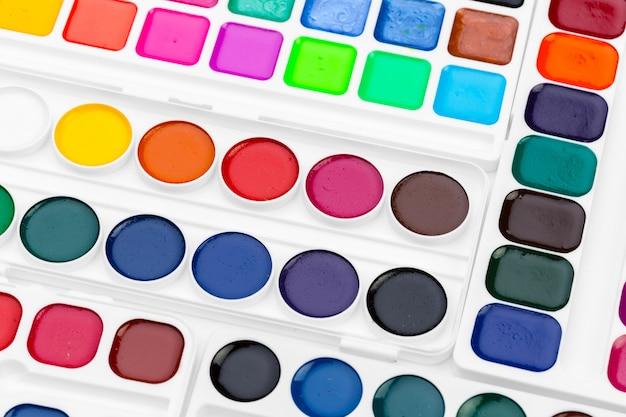 Set von aquarellfarben