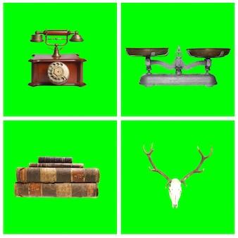 Set von dekorativen elementen