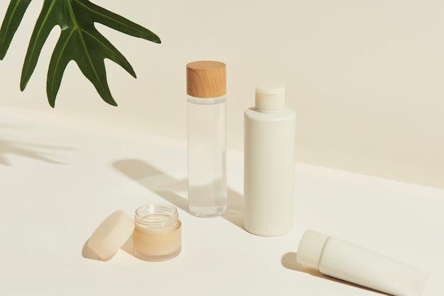 Set von design-ressourcen für hautpflegepakete