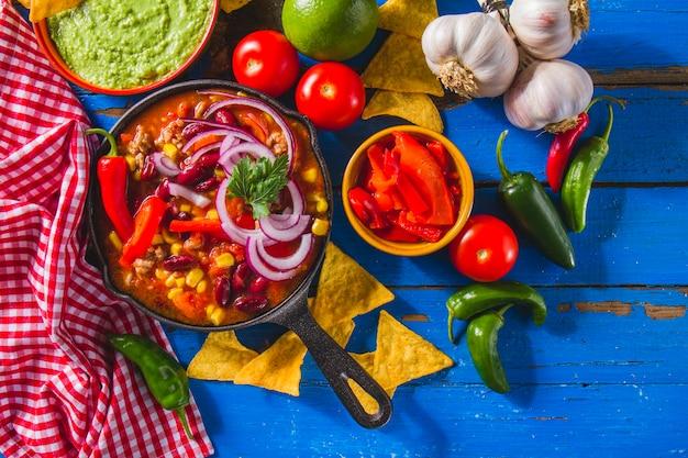 Set von mexikanischen zutaten