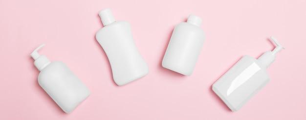 Set weiße kosmetikbehälter