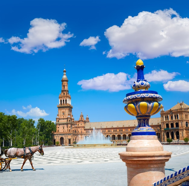 Sevilla sevilla plaza espana andalusien spanien